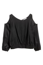 Cold shoulder blouse - Black - Kids | H&M CN 2