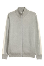 Cotton cardigan - Grey marl - Men | H&M CN 2