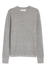 Textured-knit jumper - Grey marl - Men | H&M CN 2
