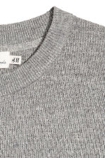 Textured-knit jumper - Grey marl - Men | H&M 3