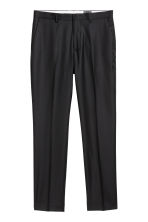 Wollen broek - Regular fit - Zwart - HEREN | H&M BE 2