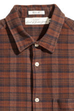 Camicia flanella Regular fit - Marrone scuro/quadri - UOMO | H&M IT 3