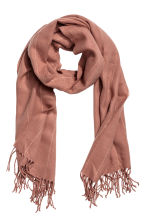 Pinstriped scarf - Old rose - Ladies | H&M CN 1