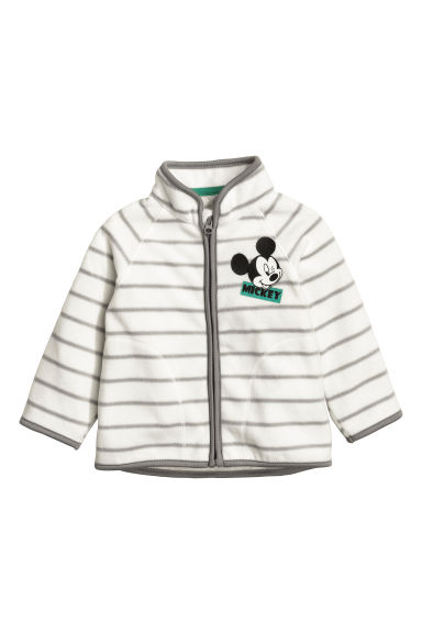 Fleece jacket - White/Mickey Mouse - Kids | H&M 1