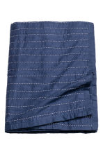 Bedspread with stitching - Dark blue - Home All | H&M CA 2