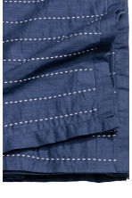 Bedspread with stitching - Dark blue - Home All | H&M CA 3