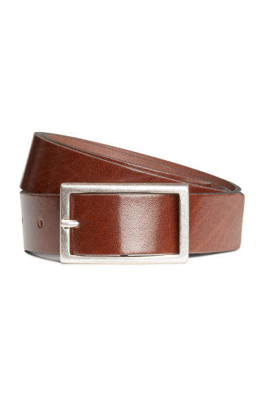 Leather belt - Cognac brown - Men | H&M CN 1
