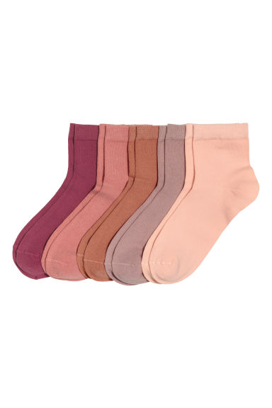 5-pack socks - Old rose - Ladies | H&M CN 1