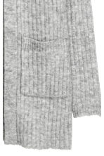 Rib-knit cardigan - Grey marl - Ladies | H&M 3