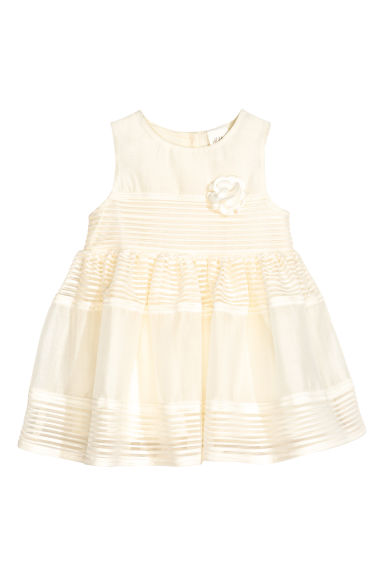 Sleeveless dress - Natural white - Kids | H&M CN 1