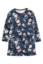 Sweatshirt dress - Dark blue/Patterned - Kids | H&M CN 2