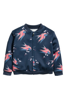 Patterned scuba jacket