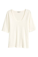 Top in jersey - Bianco - DONNA | H&M IT 1