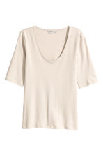 Top in jersey - Beige chiaro - DONNA | H&M IT 2