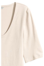 Jersey top - Light beige - Ladies | H&M CN 3