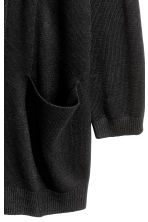 Knitted cardigan - Black -  | H&M 4