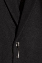 Wool-blend jacket with fringes - Black - Men | H&M 3