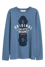 Long-sleeved T-shirt - Blue/Skateboard - Kids | H&M 2