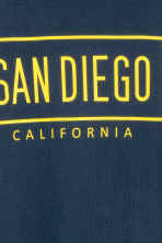Long-sleeved T-shirt - Dark blue/San Diego - Kids | H&M 3