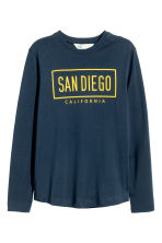 Long-sleeved T-shirt - Dark blue/San Diego - Kids | H&M CN 2