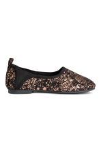 Soft ballet pumps - Black/Gold - Kids | H&M CA 1
