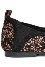 Soft ballet pumps - Black/Gold - Kids | H&M CA 4