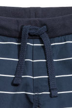 Twill shorts - Dark blue/Striped - Kids | H&M 5