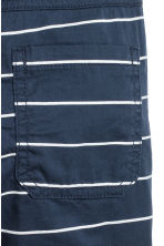 Twill shorts - Dark blue/Striped - Kids | H&M 4