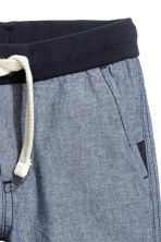 Twill shorts - Dark denim blue - Kids | H&M 3
