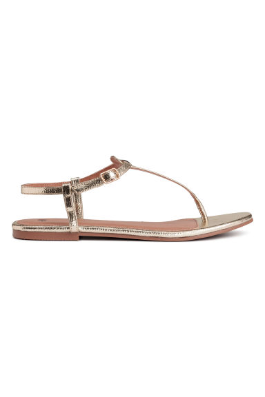 Toe-post sandals - Gold - Ladies | H&M CN 1