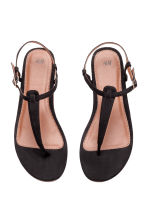 Toe-post sandals - Black - Ladies | H&M CN 2