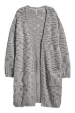 Long cardigan - Grey - Ladies | H&M CN 2