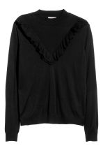 H&M+ Fine-knit jumper - Black - Ladies | H&M CN 2