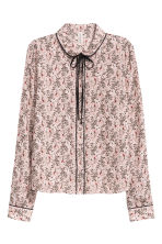 Blouse with a tie - Powder pink/Pattern - Ladies | H&M CN 2