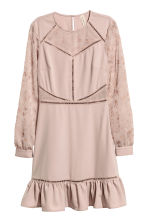 Embroidered dress - Vintage pink - Ladies | H&M 2