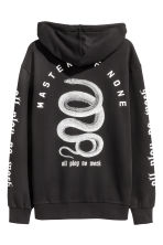 Printed hooded top - Black/Snake - Men | H&M 3