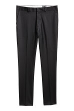 Wool suit trousers Skinny fit - Black - Men | H&M CN 2
