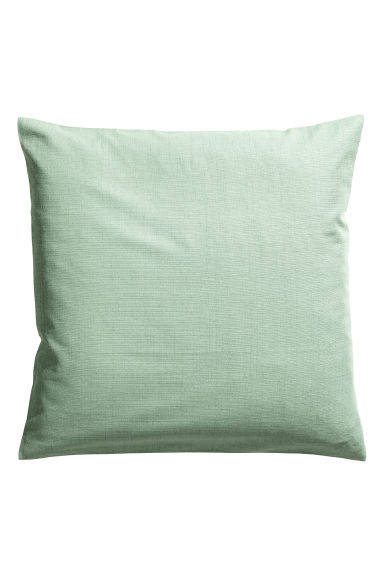 Slub-weave cushion cover - Dusky green - Home All | H&M CN