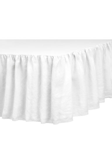 Washed linen valance - White - Home All | H&M CA 1