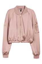 Short bomber jacket - Old rose - Ladies | H&M 2