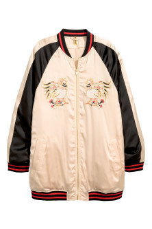 Oversized baseball jacket
