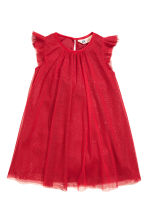Tulle dress with glitter - Red - Kids | H&M CN 2