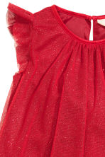 Tulle dress with glitter - Red - Kids | H&M CN 3