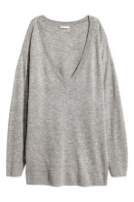 Fine-knit wool-blend jumper - Grey marl - Ladies | H&M 2