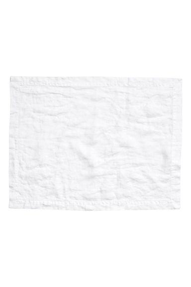 Linen table mat - White - Home All | H&M CN 1