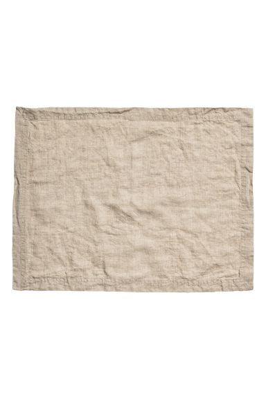 Linen table mat - Linen beige - Home All | H&M CN 1