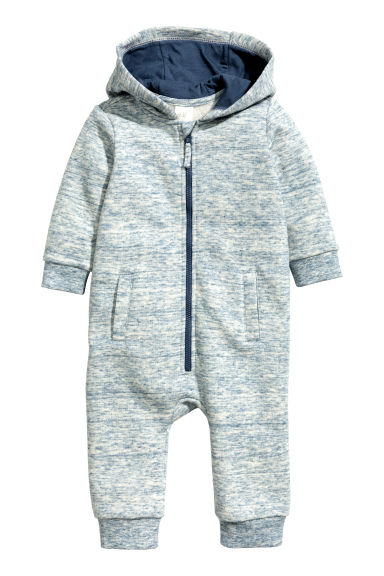 Sweatshirt all-in-one suit - Blue marl - Kids | H&M 1