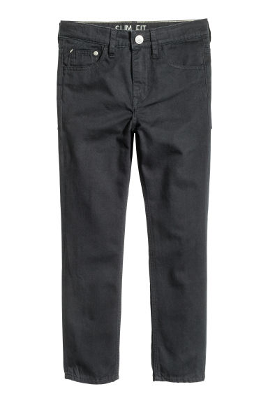 Generous fit Twill trousers - Black -  | H&M CN