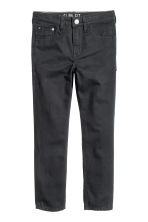 Pantalon en twill Coupe ample - Noir -  | H&M FR 1