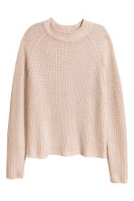 Knitted jumper - Light beige - Ladies | H&M GB 2